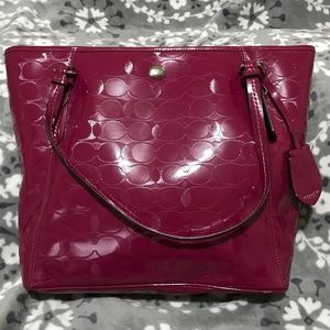 💯Authentic💯COACH Patent Leather Tote Bag